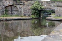 Kanal in Llangollen in Wales Lizenzfreie Stockfotografie