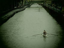 Kanal in Mailand Lizenzfreie Stockfotografie