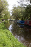 Kanal mit Lastkähnen Lizenzfreies Stockbild