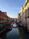 Kanal nära Castello Venedig Royaltyfri Foto