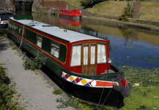Kanal Narrowboats Stockfotos