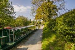 Kanal Narrowboats lizenzfreie stockbilder