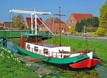 kanal nordliga germany Fotografering för Bildbyråer