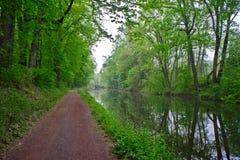 Kanal och bana, nytt hopp, Pennsylvania Arkivbilder