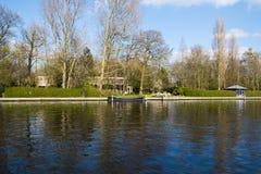 Kanal Olde Rijn, Nederländerna royaltyfria foton