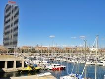 Kanal olympisch in Barcelona - Spanien stockfotos