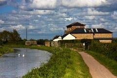 kanal omvandlad pumpa station Arkivbild