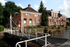 Kanal Overdiepen i Veendam Royaltyfria Bilder
