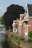 Kanal Overdiepen i Veendam royaltyfri fotografi