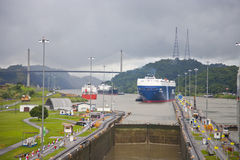 kanal panama Arkivbilder