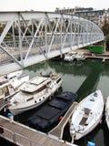 kanal paris Fotografering för Bildbyråer