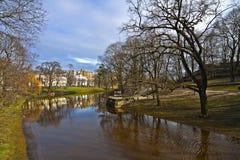 Kanal in Riga. lizenzfreies stockfoto
