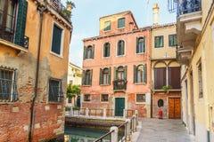 Kanal Rio de le Toreseie in Venedig Italien stockfotografie
