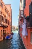 Kanal Rio Della Maddalena Venedig Italien stockbilder
