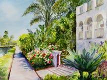 Kanal Rose Garden arkivbilder