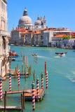 Kanal som är stor i Venedig, Italien Royaltyfria Foton