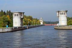 Kanal som namnges efter Moskva i Ryssland Arkivbilder