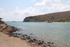 Kanal, Spinalonga-Aussätzig-Kolonien-Festung, Elounda, Kreta lizenzfreie stockfotografie