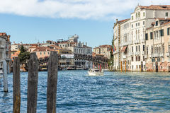 kanal stora italy venice Royaltyfri Fotografi