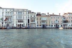 Kanal stora Venedig Royaltyfria Foton