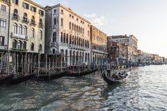 Kanal stora Venedig Arkivbilder