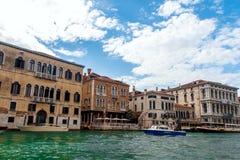 Kanal stora Venedig Royaltyfria Bilder