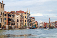 Kanal stora Venedig Arkivfoto