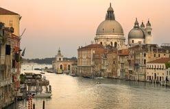 kanal storslagna italy venice Royaltyfri Fotografi