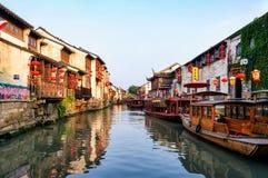 Kanal in Suzhou, China lizenzfreies stockbild