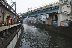 Kanal Tokyo Royaltyfria Bilder