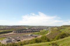 Kanal-Tunnelterminal in Folkestone, Großbritannien Lizenzfreies Stockbild