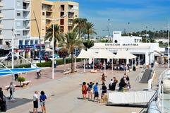 Kanal und alte Stadt von Ibiza Stadt, in Ibiza, Balearic Island, Badekurort Stockbilder