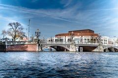 Kanal und Brücke Stockbilder