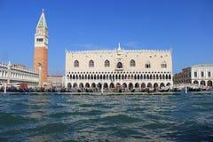 Kanal und Palast in Venedig Lizenzfreie Stockfotografie