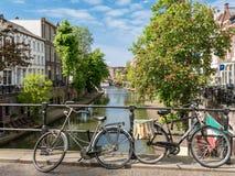 Kanal in Utrecht, Holland Lizenzfreies Stockbild