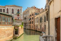 A idyllic canal in Venice royalty free stock image