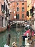 Kanal in Venedig Stockfoto