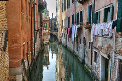 Kanal, Venedig Italien stockbilder