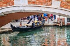 Kanal in Venedig, Italien lizenzfreie stockfotos