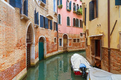 Kanal in Venedig, Italien stockfotografie