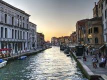 Kanal in Venedig, Italien Stockbild
