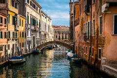 Kanal Venedig, Italien royaltyfri foto