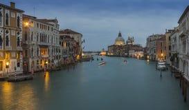 Kanal Venedigs Gran Stockfotos
