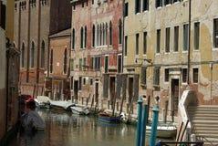 kanal venice Royaltyfri Bild
