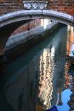 kanal venice Arkivfoto