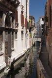 kanal venice Arkivbild