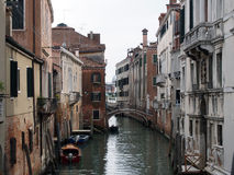 kanal venice Arkivfoton