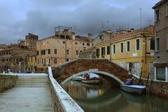 kanal venice Veneto italy Arkivfoto