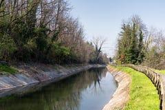 Kanal Villoresi in Brianza (Italien) Stockfoto