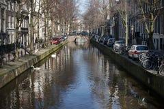 Kanal von Amsterdam Lizenzfreie Stockbilder